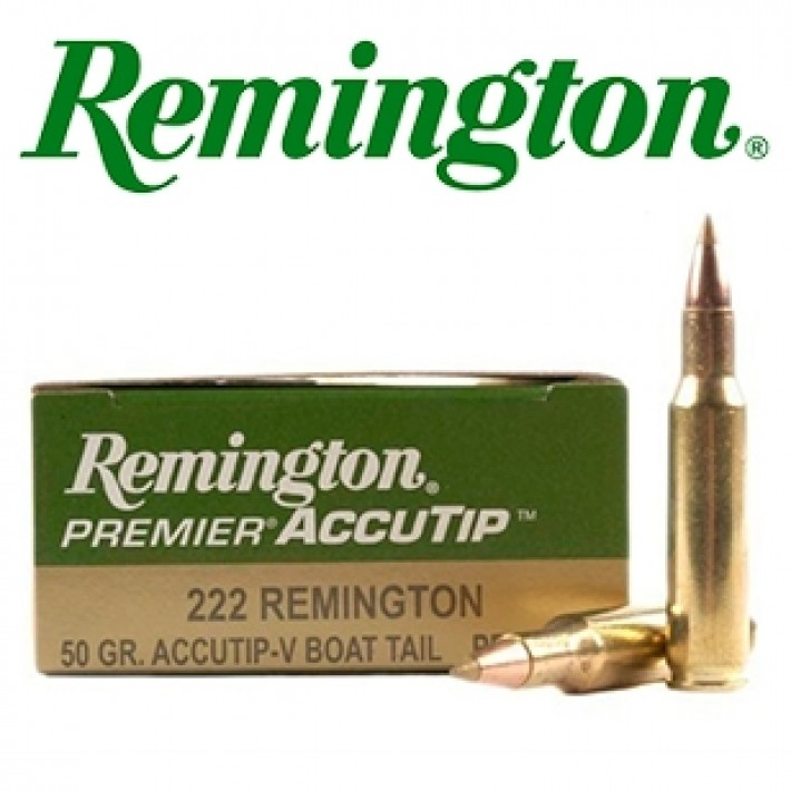 Cartuchos Remington Premier .222 Remington 50 grains AccuTip-V
