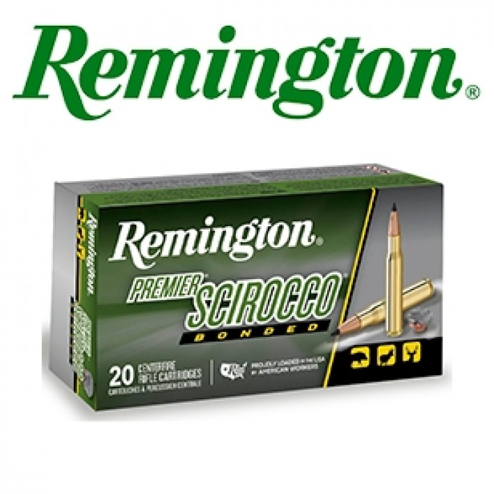 Cartuchos Remington Premier .243 Winchester 90 grains Swift Scirocco Bonded