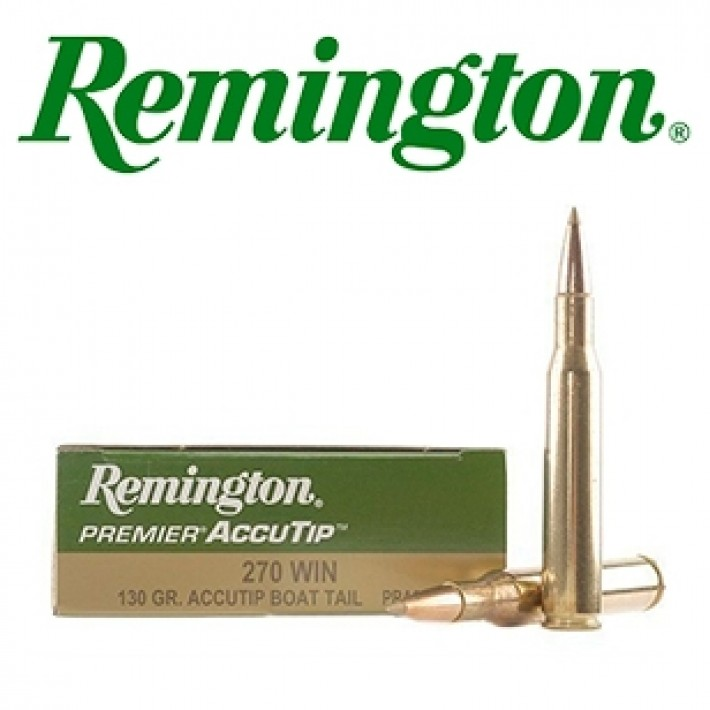 Cartuchos Remington Premier .270 Winchester 130 grains AccuTip