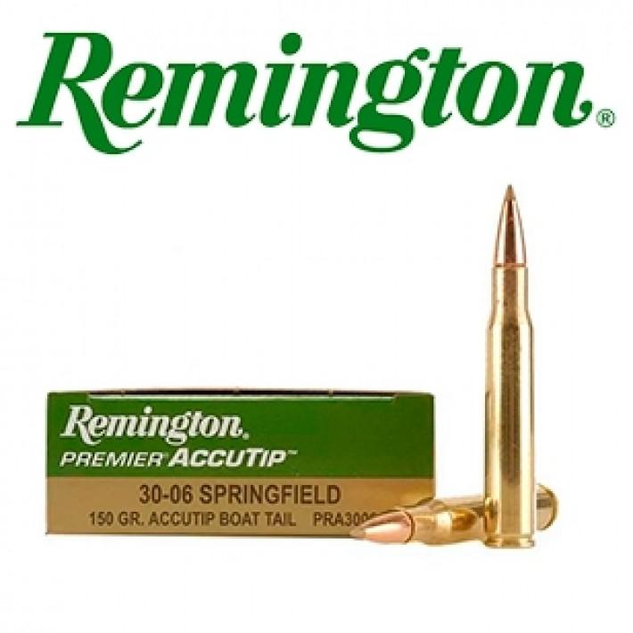Cartuchos Remington Premier .30-06 Springfield 150 grains AccuTip