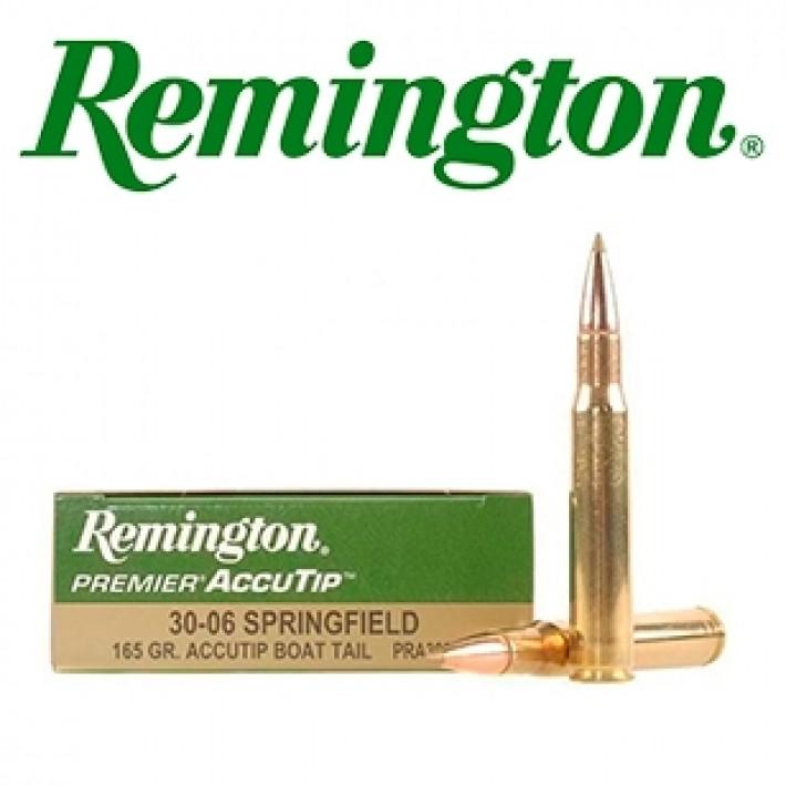 Cartuchos Remington Premier .30-06 Springfield 165 grains AccuTip