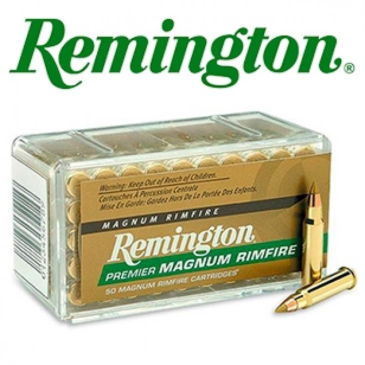 Cartuchos Remington Premier Magnum Rimfire .17 HMR 17 grains Accutip