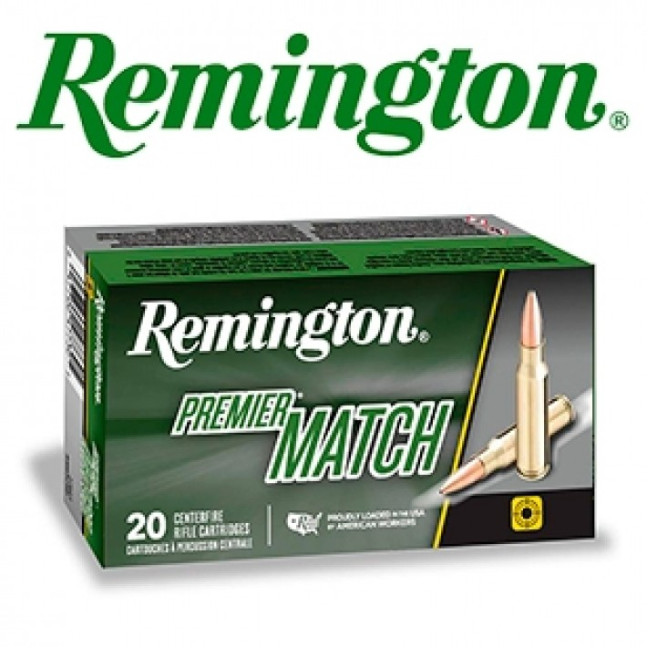 Cartuchos Remington Premier Match .308 Winchester 168 grains HPBT