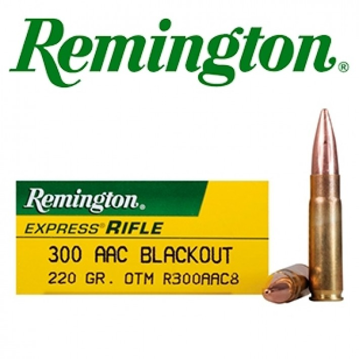Cartuchos Remington Subsonic .300 Blackout 220 grains HP