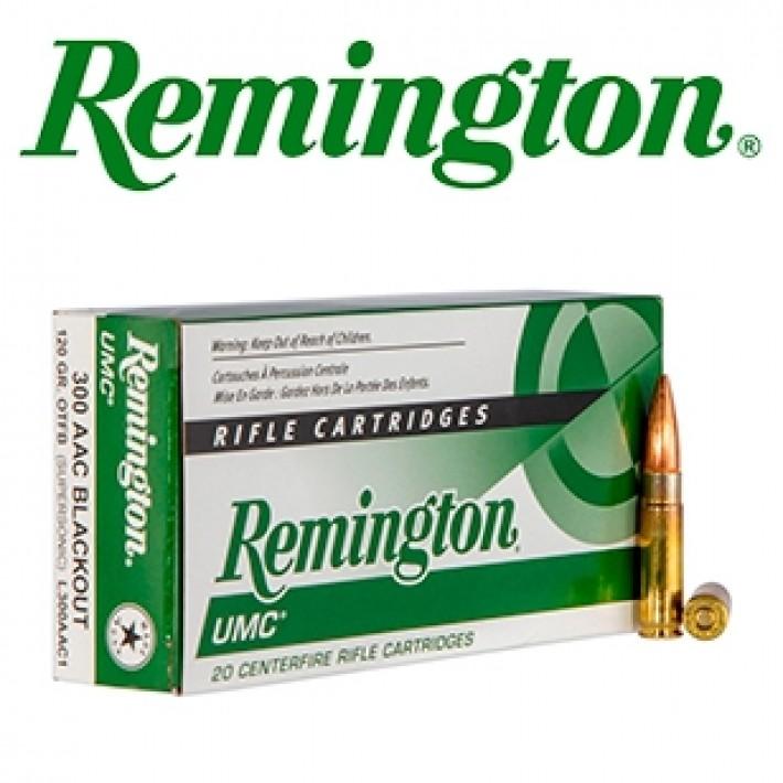 Cartuchos Remington UMC .300 Blackout 120 grains HP