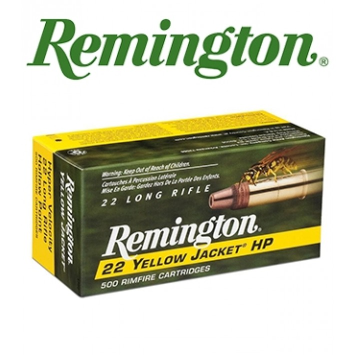 Cartuchos Remington Yellow Jacket .22 LR 33 grains TC HP - 50 unidades (ammo)