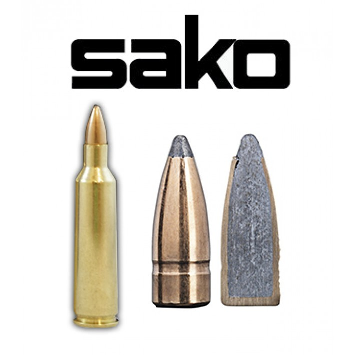 Cartuchos Sako .22-250 Remington 55 grains Gamehead (ammo)