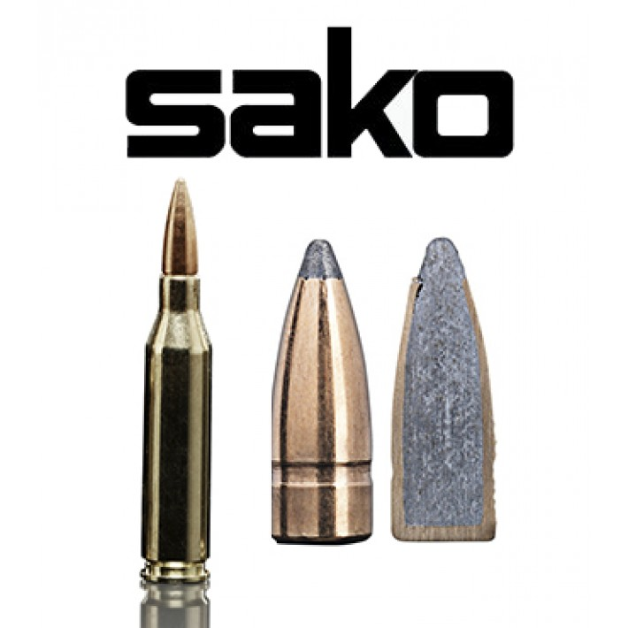 Cartuchos Sako .243 Winchester 100 grains Gamehead (ammo)
