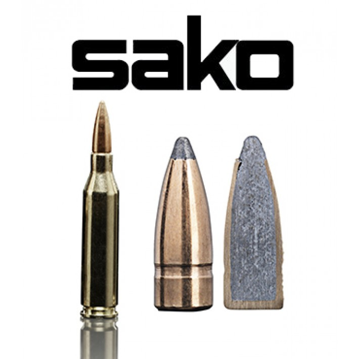 Cartuchos Sako .243 Winchester 90 grains Gamehead (ammo)