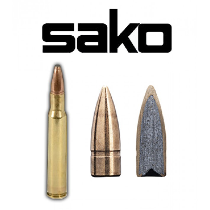 Cartuchos Sako .30-06 Springfield 123 grains FMJ (ammo)