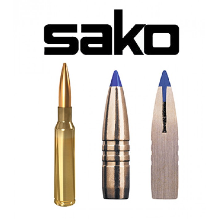 Cartuchos Sako 6.5x55 Sueco 120 grains Powerhead II (ammo)