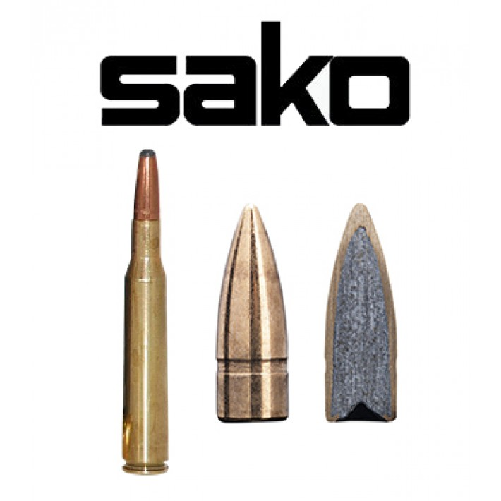 Cartuchos Sako 8x57 JS Mauser 127 grains FMJ Indoor