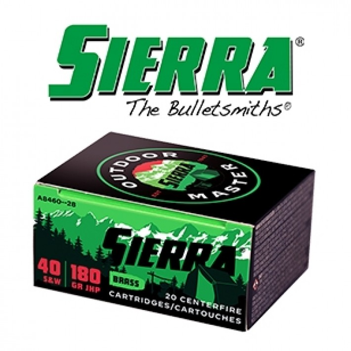 Cartuchos Sierra .40 S&W 170 grains JHP