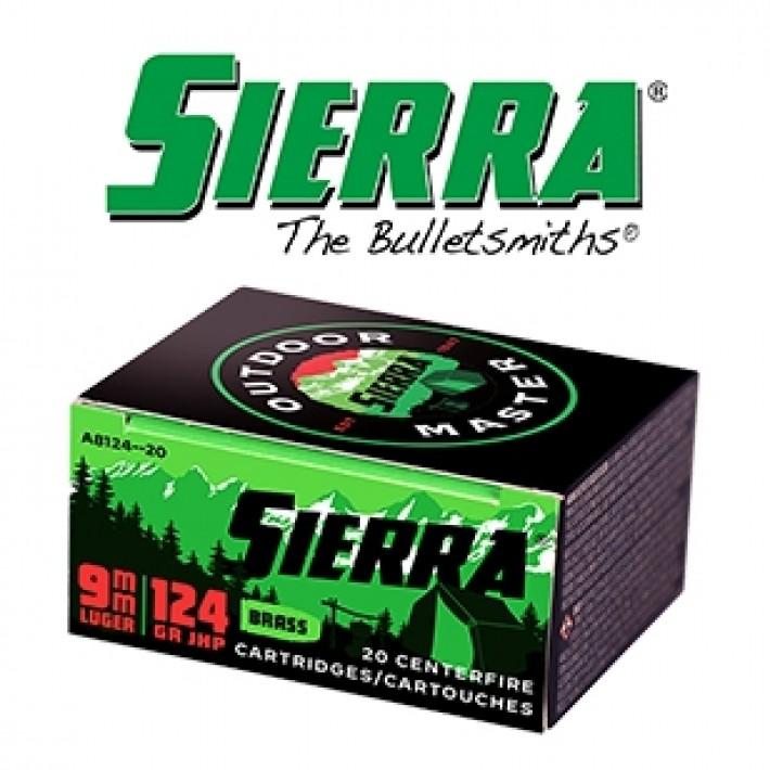 Cartuchos Sierra 9mm Luger 115 grains JHP