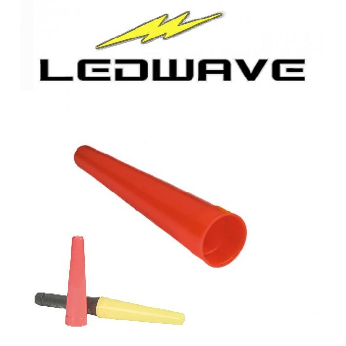 Cono de tráfico Ledwave para linterna de 35mm - Rojo