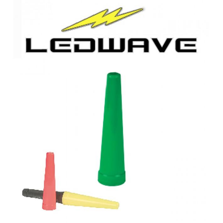 Cono de tráfico Ledwave para linterna PEL-4 de 43mm - Verde