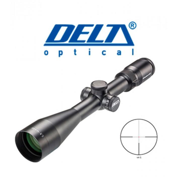 Visor Delta Titanium HD 2,5-10x50 de 30 mm con retícula 4A