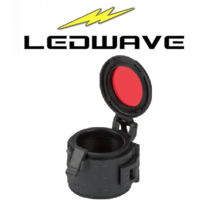 Filtro rojo Ledwave de 33mm y grado militar