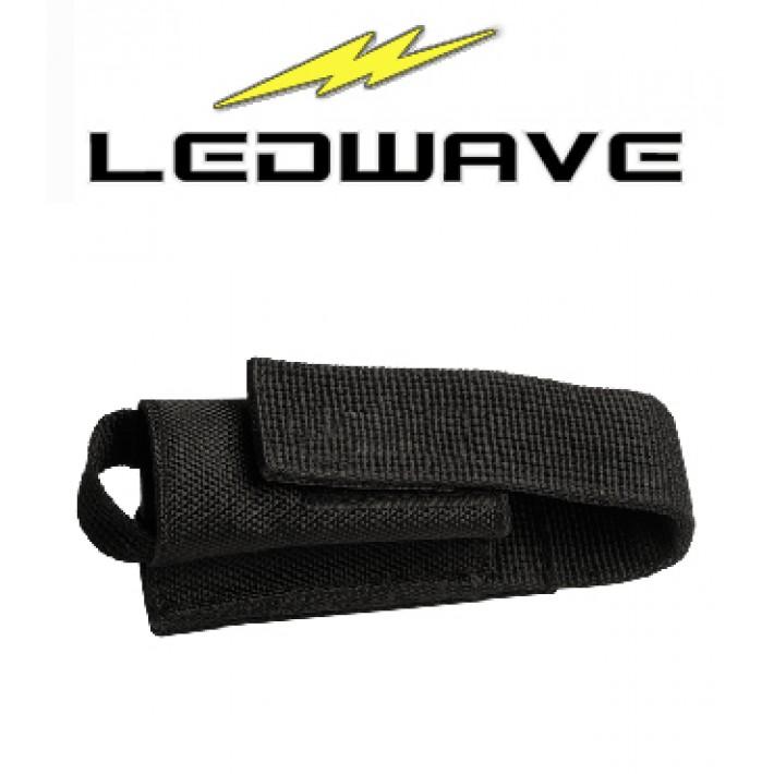 Funda Ledwave Nylon con velcro para linterna PEL-4