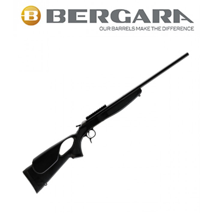 Rifle monotiro Bergara BA13 Standard con culata Thumbhole negra