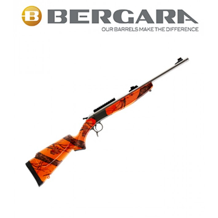 Rifle monotiro Bergara BA13 Compact con culata Camo Realtree Naranja