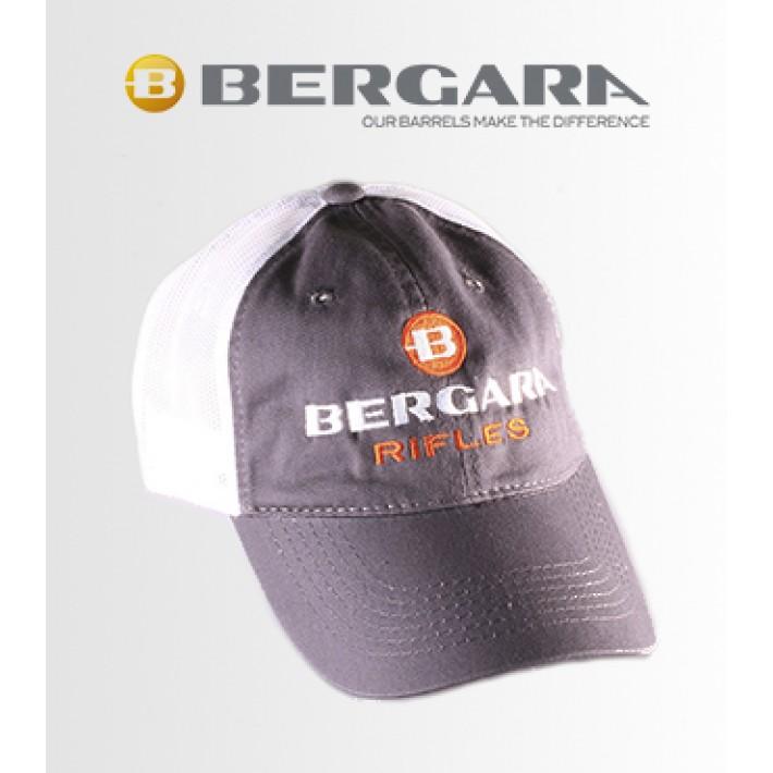 Gorra Bergara gris y blanca