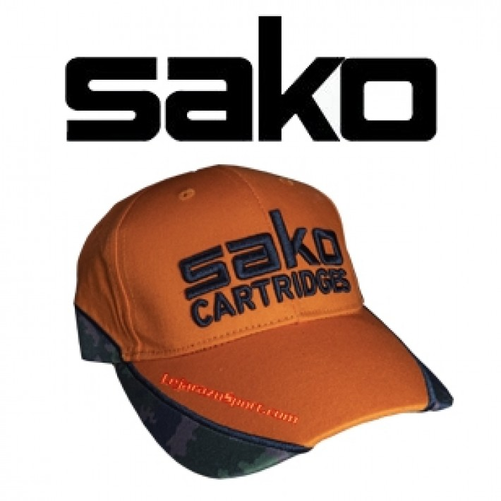 Gorra de caza Sako Naranja y camo digital