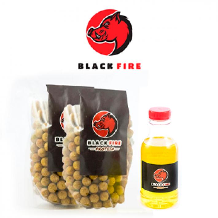 Kit de cebo para jabalí y cérvidos Black Fire - Protein + Syrup