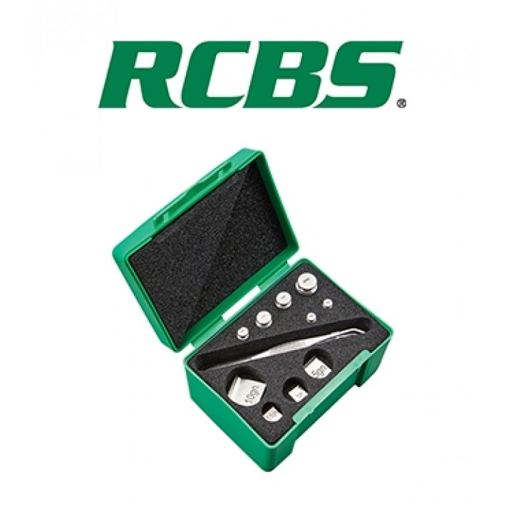 Kit de pesas RCBS para balanza Deluxe Reloading Scale Check Weight Set