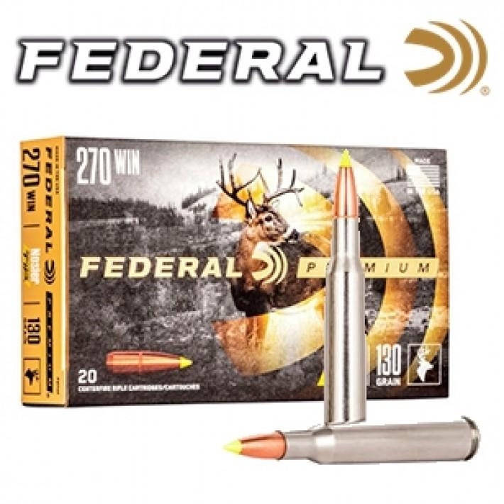 Cartuchos Federal Premium .270 Winchester 130 grains Ballistic Tip