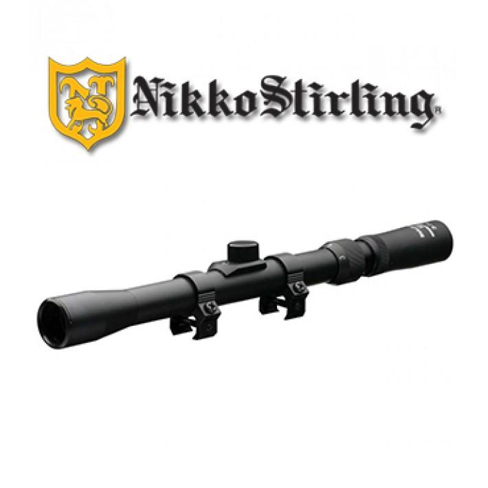 """Visor Nikko Stirling Mount Master 4x20 de 1"""" con retícula HMD"""