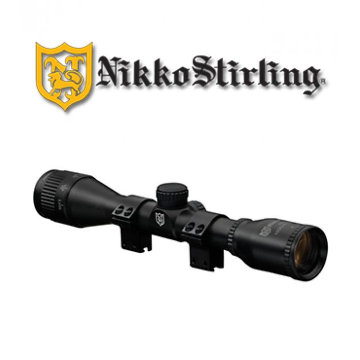 """Visor Nikko Stirling Mount Master 4x32 de 1"""" con retícula HMD y ajuste de paralaje frontal"""