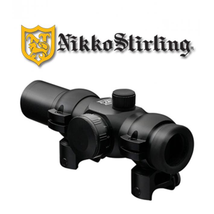 Visor punto rojo Nikko Stirling NRD con retícula 4 MOA Red Dot para carril de 11mm