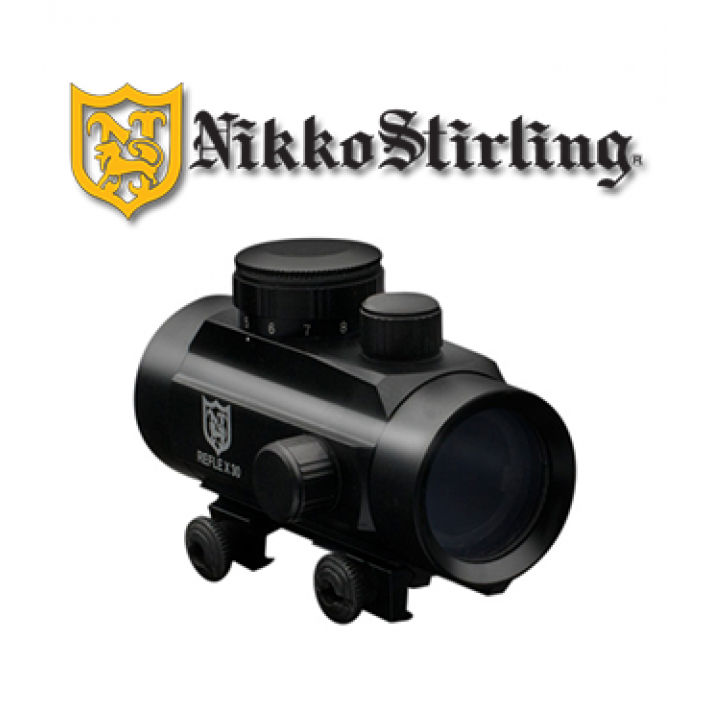 Visor punto rojo Nikko Stirling NRD 1x30 con retícula 4 MOA Red Dot para carril de 11mm