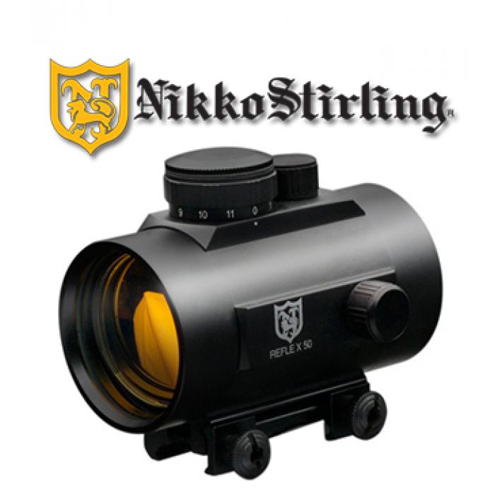 Visor punto rojo Nikko Stirling NRD con retícula 5 MOA Red Dot para carril de 11mm