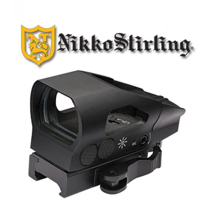 Visor punto rojo Nikko Stirling NS con retícula múltiple y montura QD