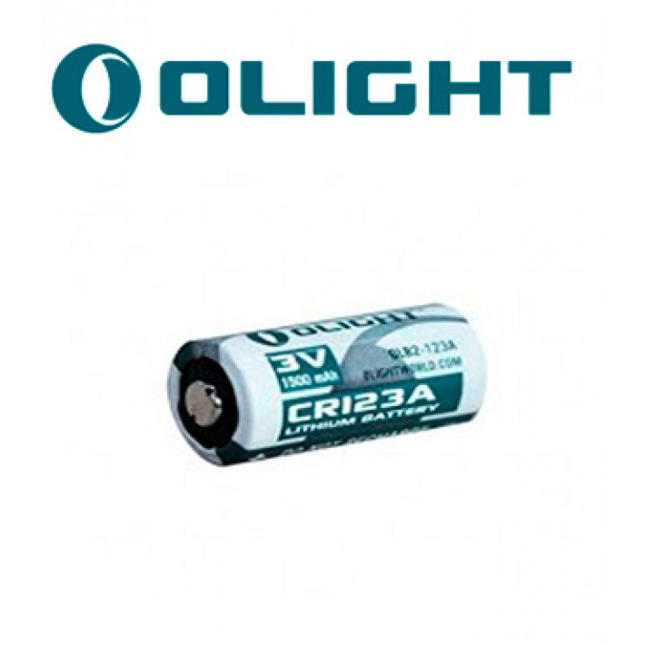 Batería de litio Olight CR123A de 3V y 1500 mA