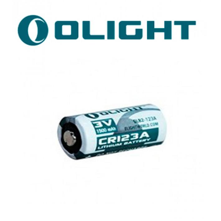 Batería de litio Olight CR123A de 3V y 1500 mA