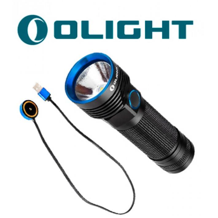 Linterna Olight R50 Pro Seeker con cable de carga