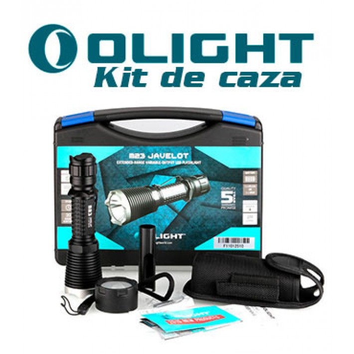 Linterna Olight M23 Javelot con kit caza no recargable