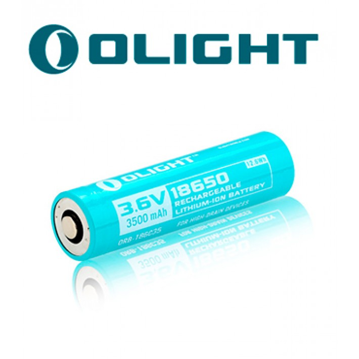 Batería recargable de litio Olight 18650 de 3.6V y 3500mAh