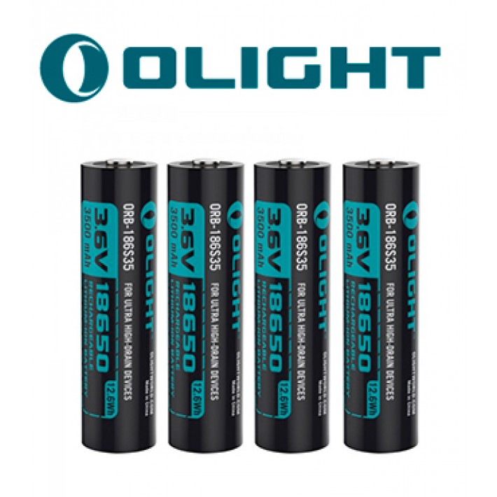Batería recargable de litio Olight 18650 de 3.6V y 3500mAh pack de 4