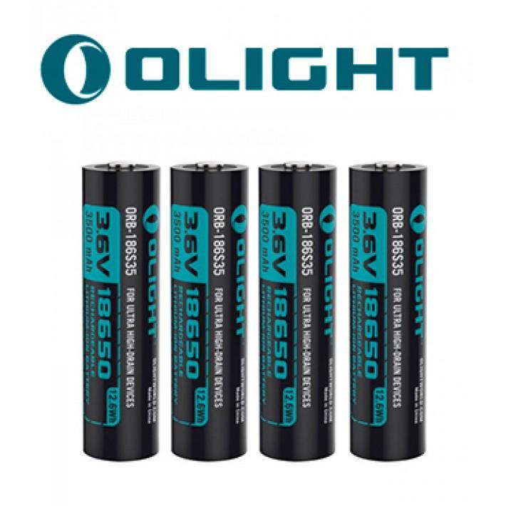 Batería recargable de litio Olight 18650 de 3.6V y 3500mAh pack de 4