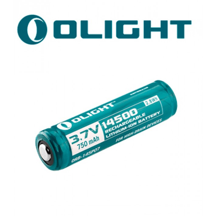 Batería recargable de litio Olight 14500 de 3.7V y 750mAh