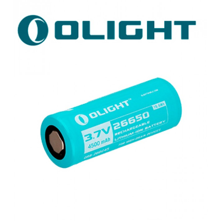 Batería recargable de litio Olight 26650 de 3.7V y 4000mAh