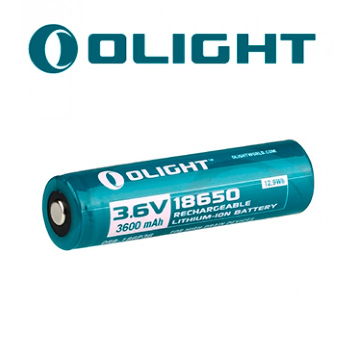 Batería recargable de litio Olight 18650 de 3.6V y 3600 mAh
