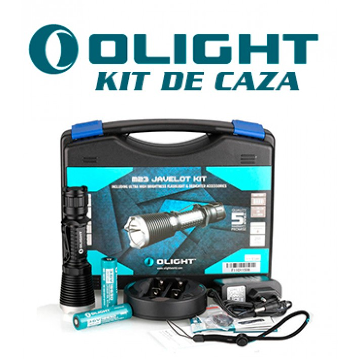 Linterna Olight M23 Javelot con kit caza recargable