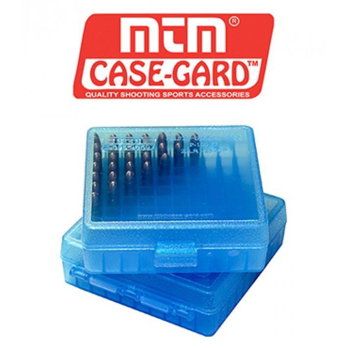 Caja para munición MTM P100 Flip Top para 100 cartuchos - Serie 22