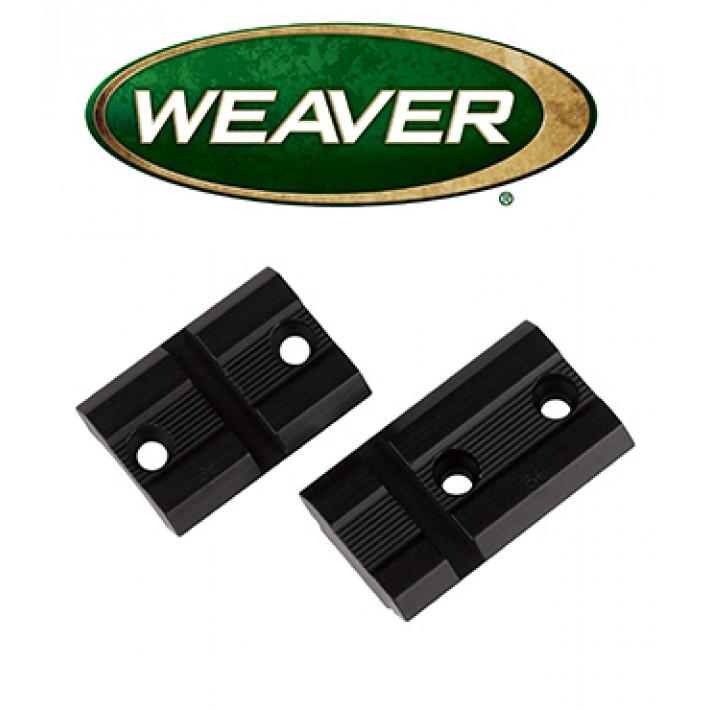 Par de bases Weaver Top Mount de aluminio mate para Winchester 94
