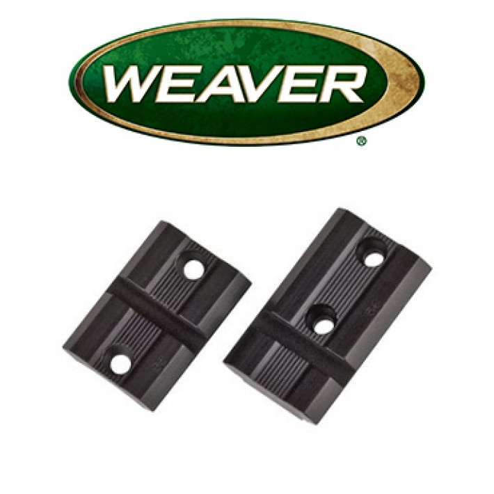 Par de bases Weaver Top Mount de aluminio mate para Remington 700